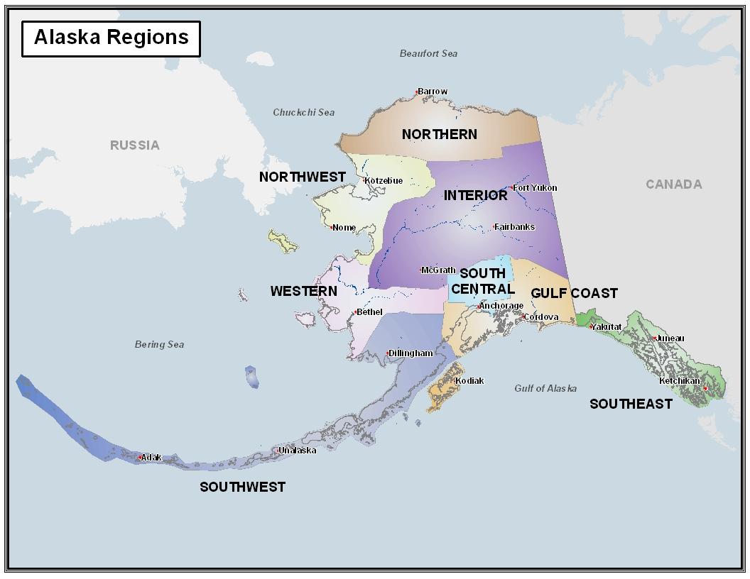 DCRA Regions in Alaska